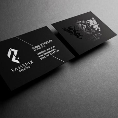 Biglietti da visita nobilitati cartoncino nero
