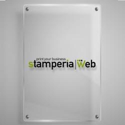 Targa in plexiglass verticale