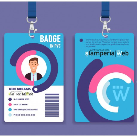 Badge Cartellini in pvc