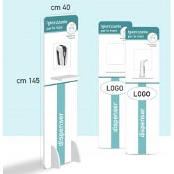 Colonnina piantana per dispenser / dosatore automatico igienizzante mani