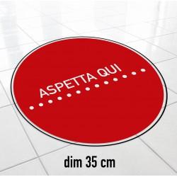 Adesivi Segnaletica distanza di sicurezza 35cm
