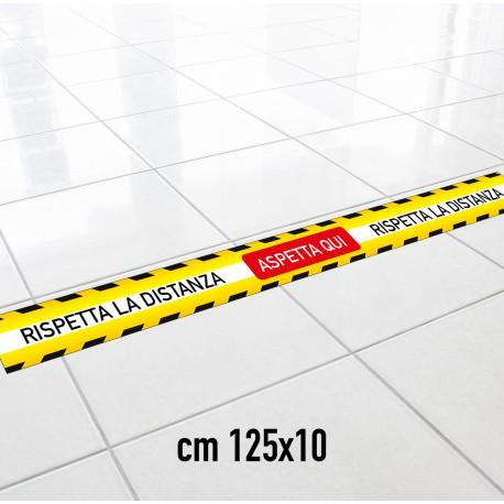 Striscia Adesiva Segnaletica distanza di sicurezza 125cm