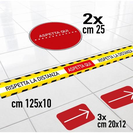 Kit Adesivi Segnaletica distanza di sicurezza