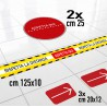 Kit 6 Adesivi Segnaletica distanza di sicurezza