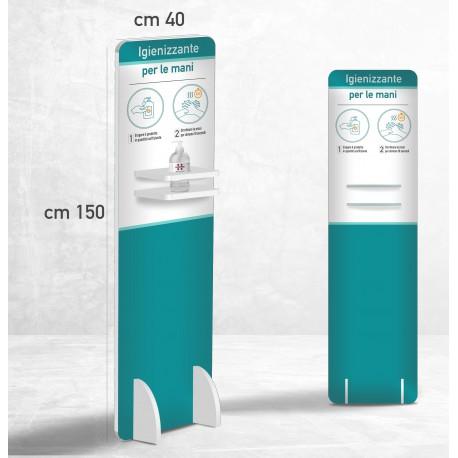 Colonnina igienizzante gel mani dosatore disinfettante