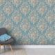 carta_da_parati_pattern_classica_blu_fiori